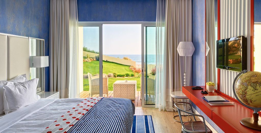 Or a Deluxe Room, with spacious balcony and sea view