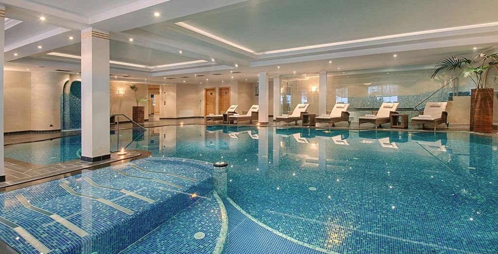Or glide through the vast indoor pool