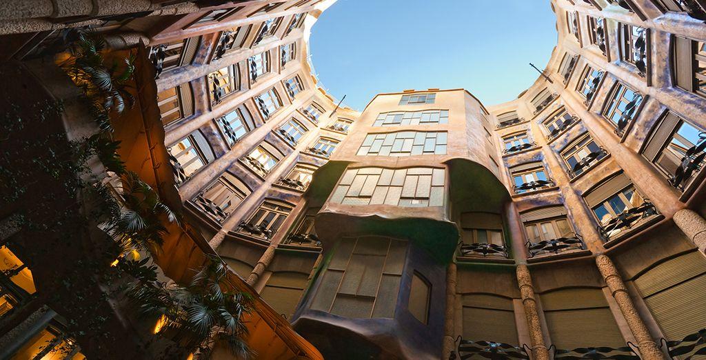 Explore the culture filled city - Gaudi's La Pedrera is just a 2 minute walk away