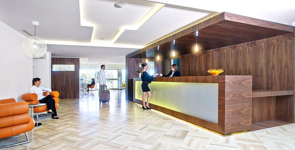 Where sleek design welcomes you....