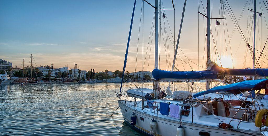 You'll find plenty of entertainment around the pretty marina