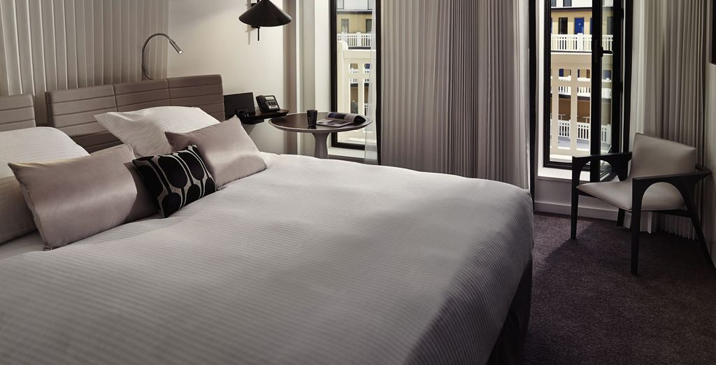 Your room is elegantly styled