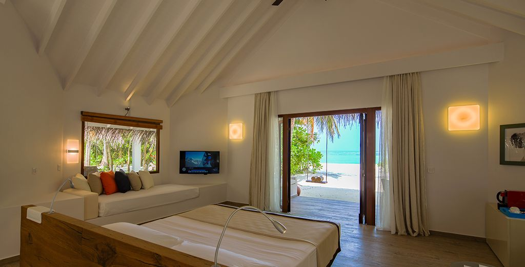 Our members may choose from a Beach Villa