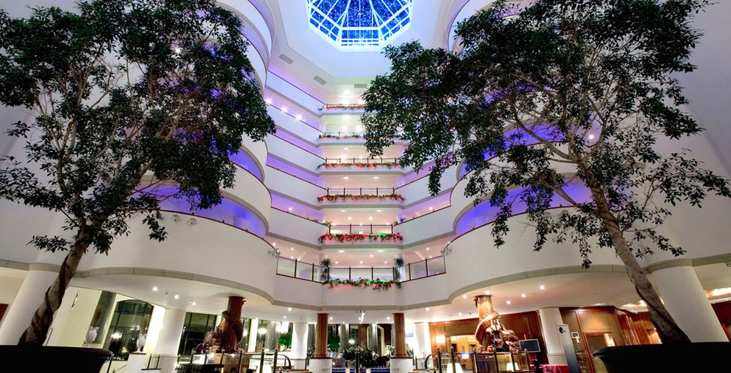 Make your way through the impressive lobby