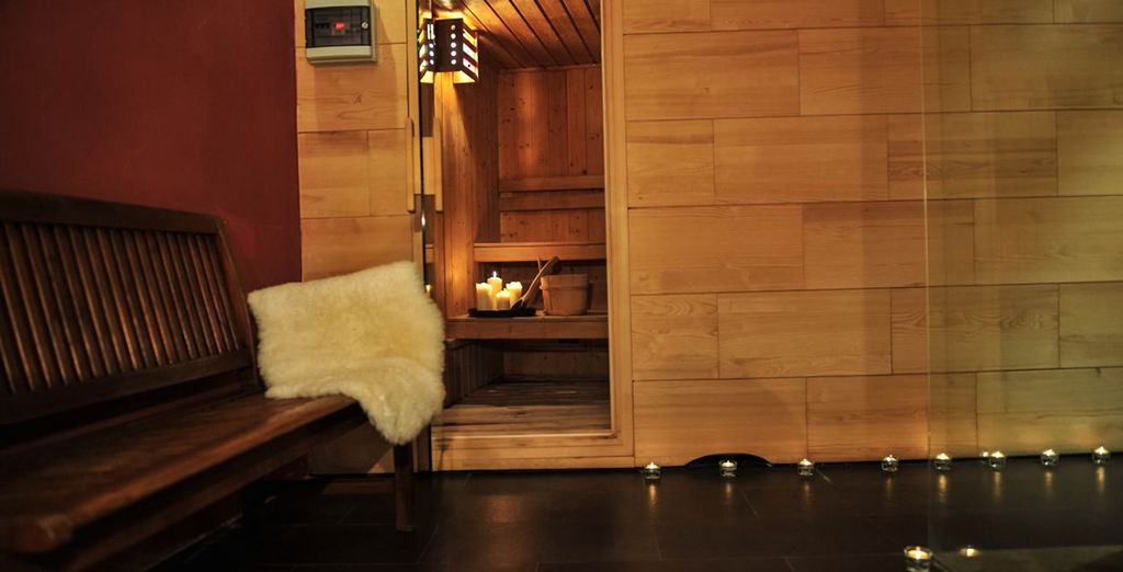 Where you can warm up in the sauna