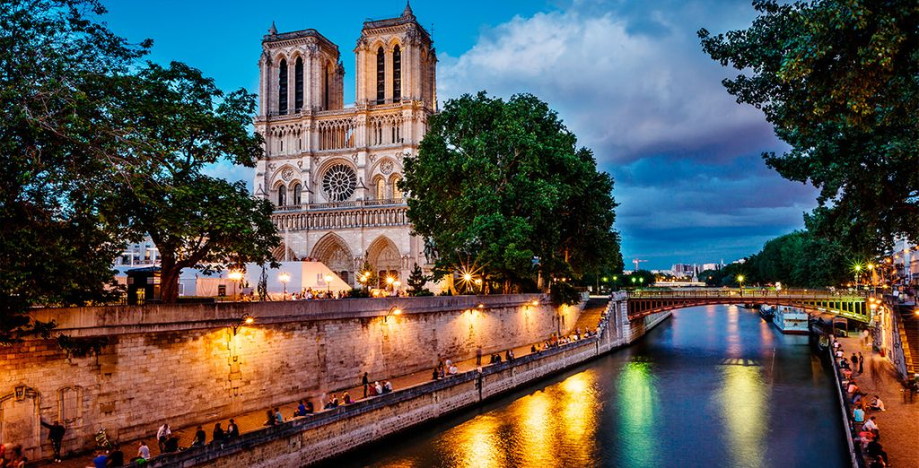 From the Notre Dame along the Seine