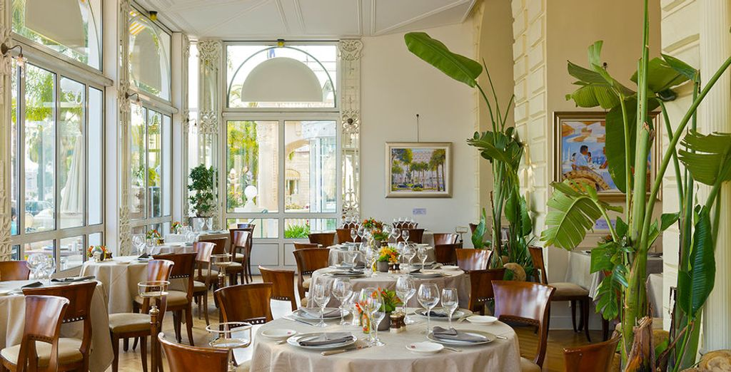Dining is always an elegant affair at InterContinental Cannes