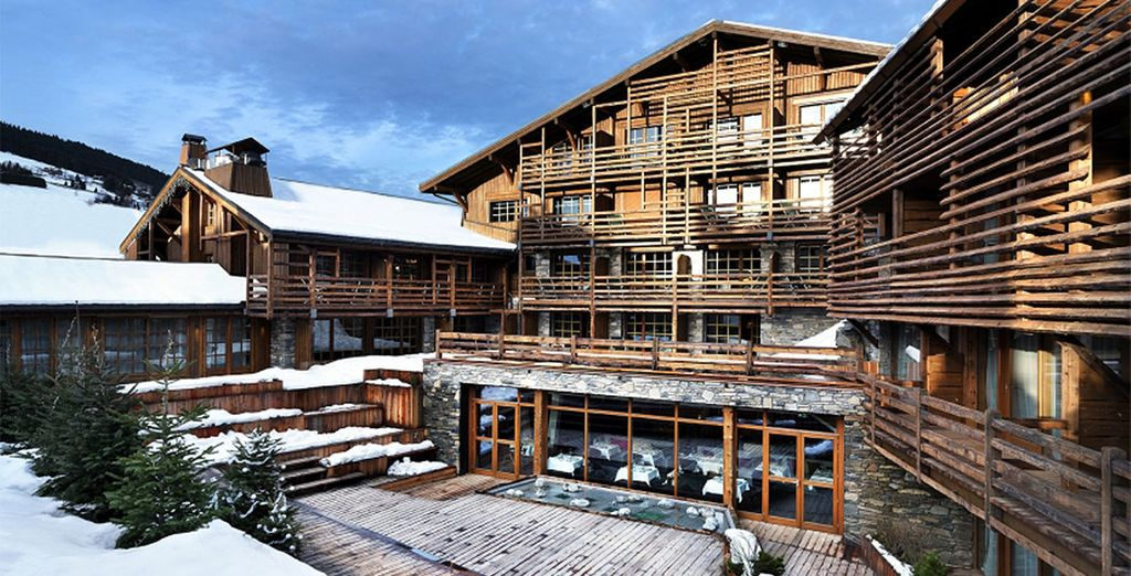 A luxury chalet-style resort