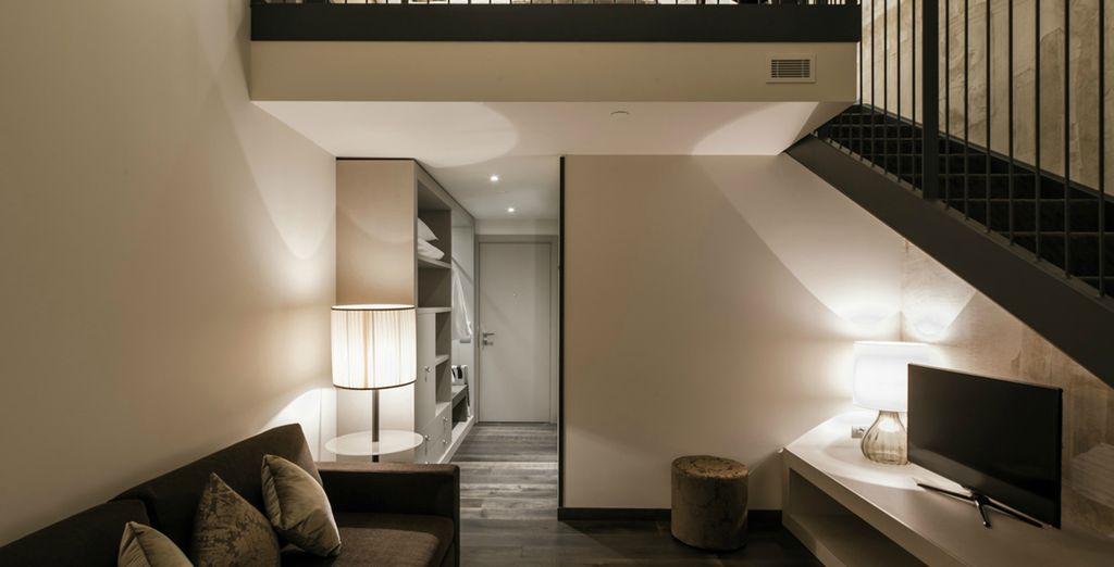 You will receive a complimentary upgrade to a two story Executive Room