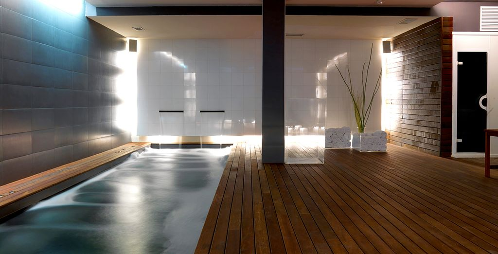 Relax at the tranquil Bodyna Spa....