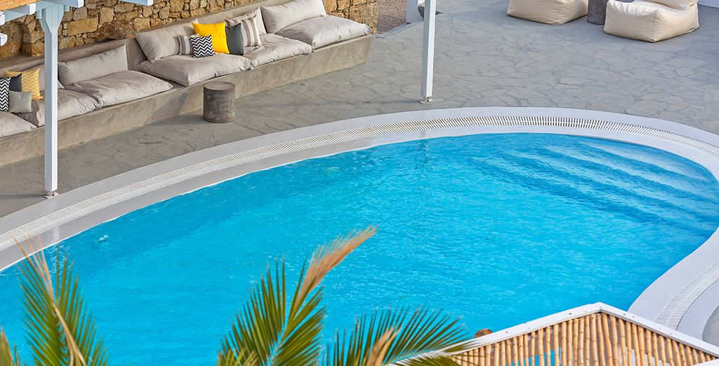 Soak up the sunshine by the pool