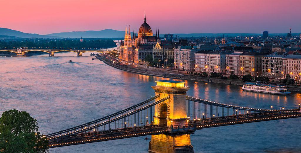Take an evening walk along the Danube