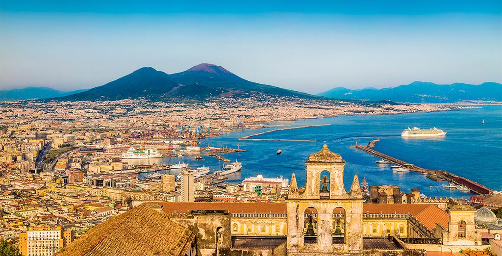 You can easily reach the bustling city of Naples