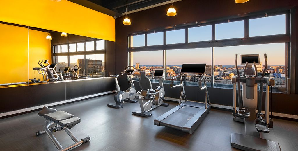 Keep fit in the gym and enjoy the magnificent view of the city