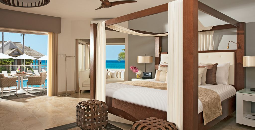 Make your way to your palatial Junior Suite Ocean View