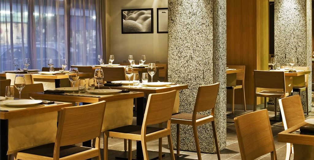 Enjoy a sumptuous meal at the restaurant