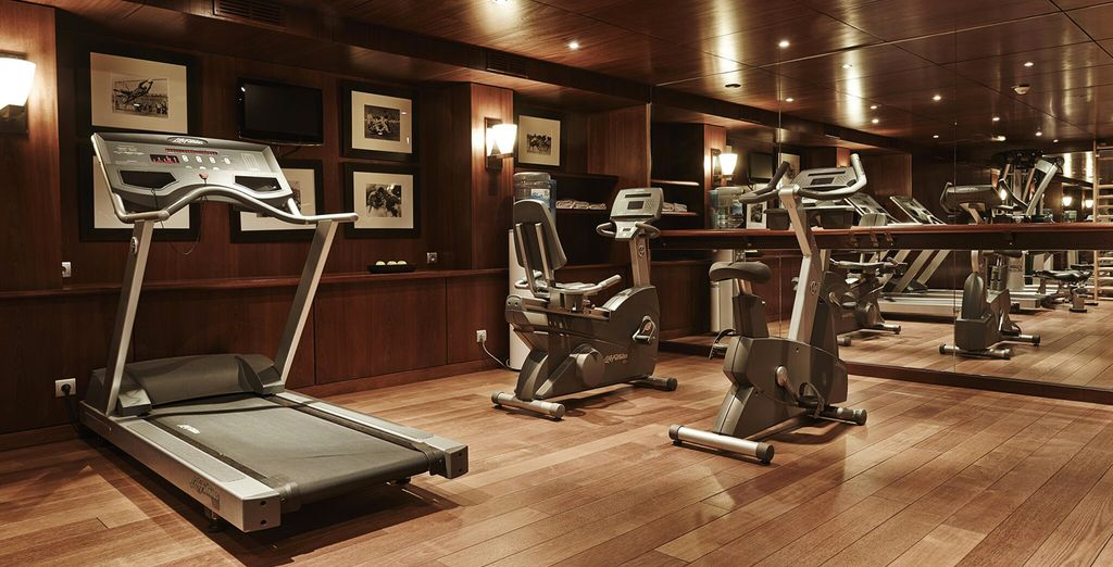 Work up a sweat in the fitness centre