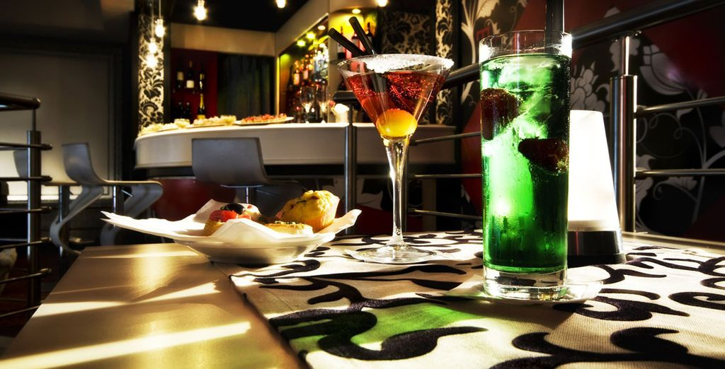 Which you can enjoy in the bar, offering a range of vibrant beverages