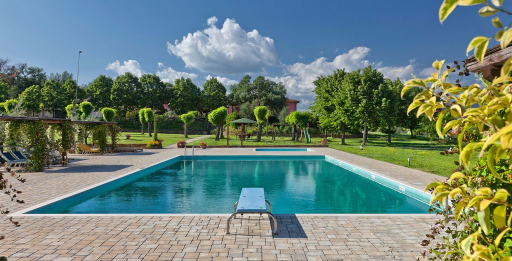 Cool off in the pool surrounded by exceptional views,
