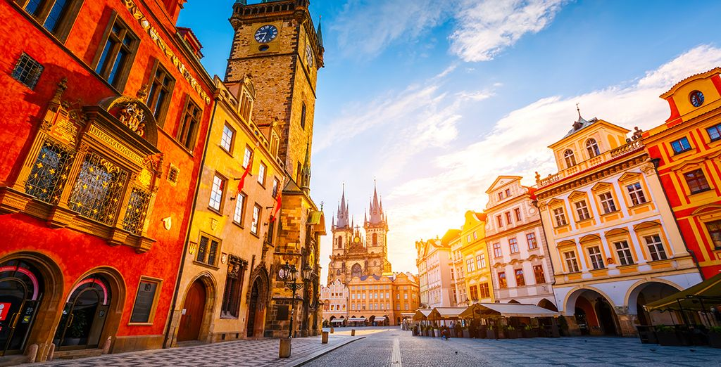 Choose the best location to explore Prague's cobbled streets
