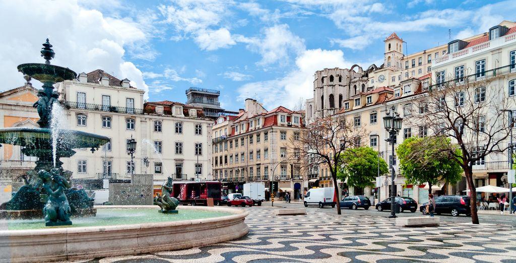 One of the symbol of Lisbon, the Calçada