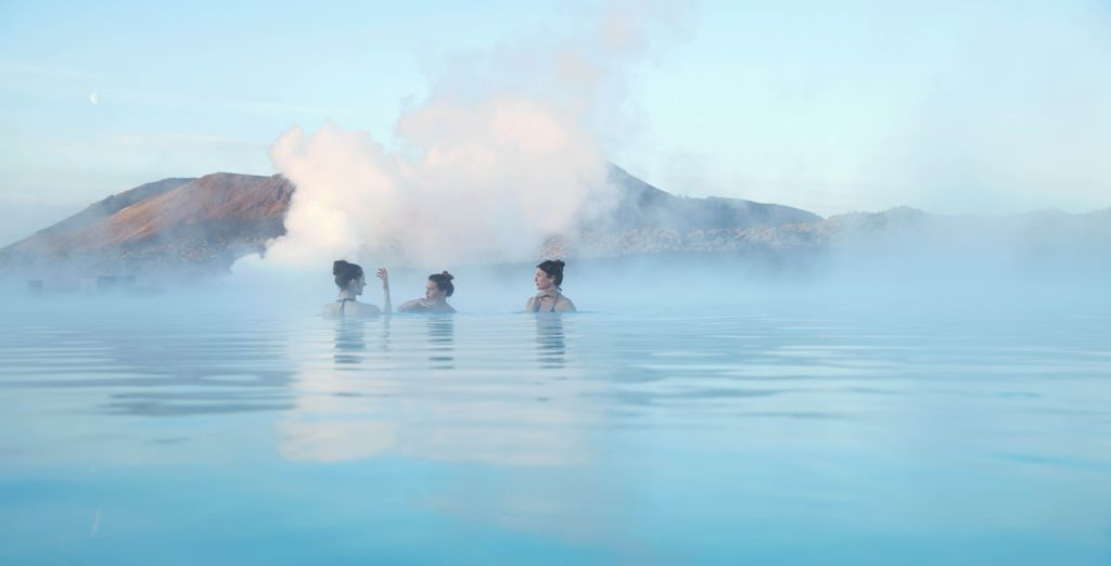 Enjoy blue lagoon, iceland