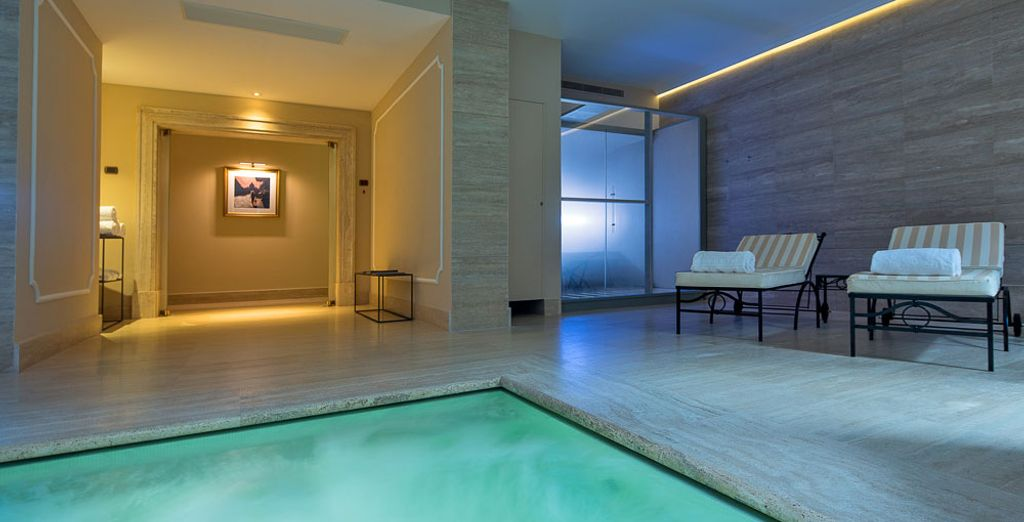 Where you can pamper yourself with a trip to the palatial spa