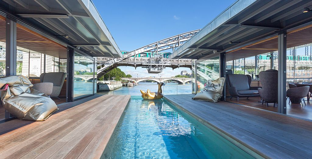 OFF is the first floating hotel and bar in Paris
