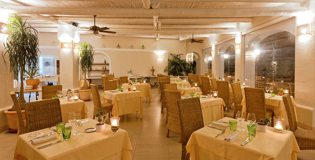 Our offer includes half board dining