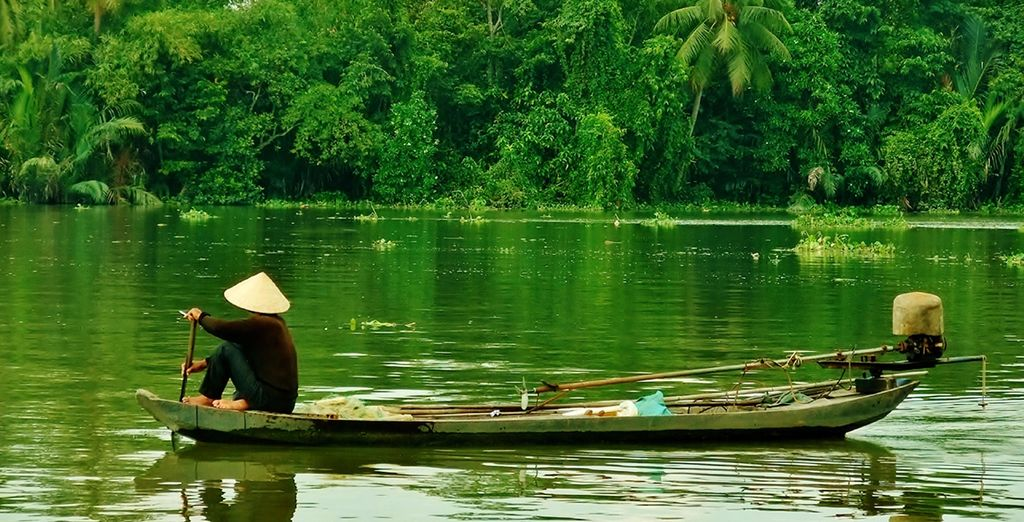 Then you'll take a motorboat down the Ben Tre River