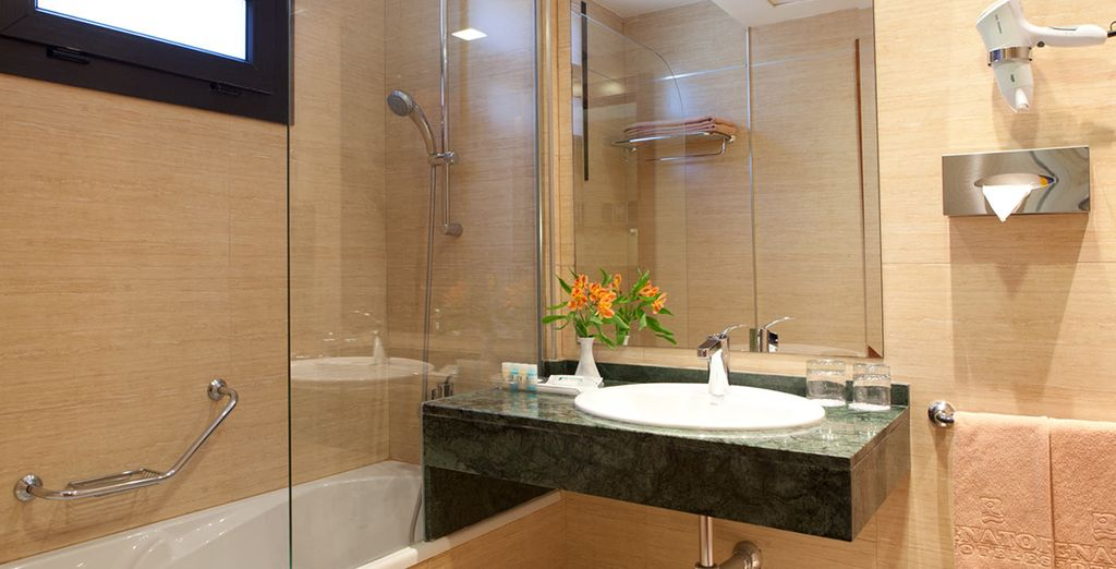 With comfortable amenities