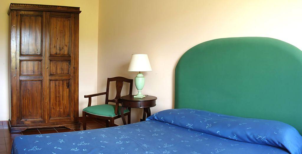 Unwind in your fresh, simple suite