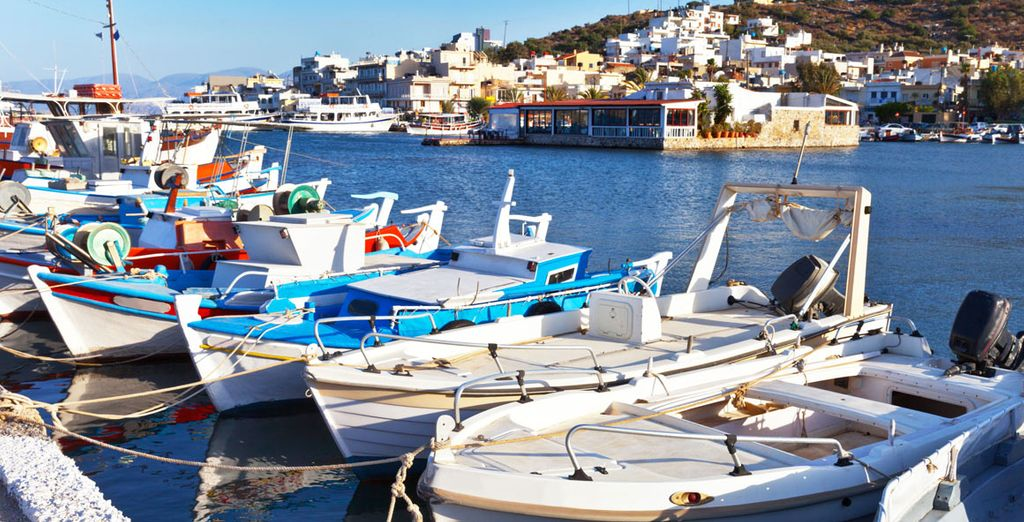 Make your way down to Elounda's pretty port