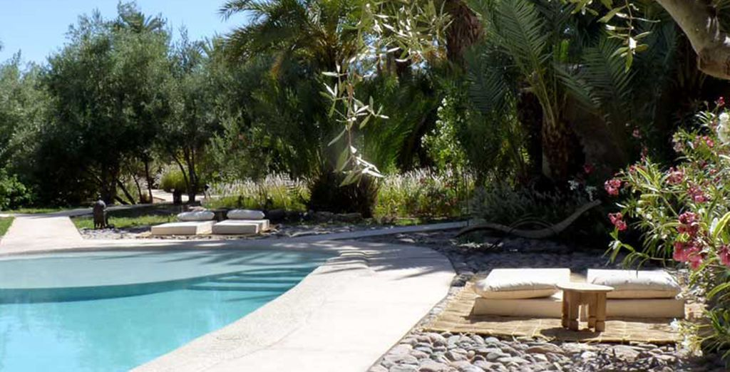 With a heated pool area