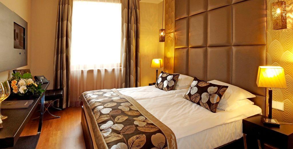 Enjoy a room upgrade upon availability
