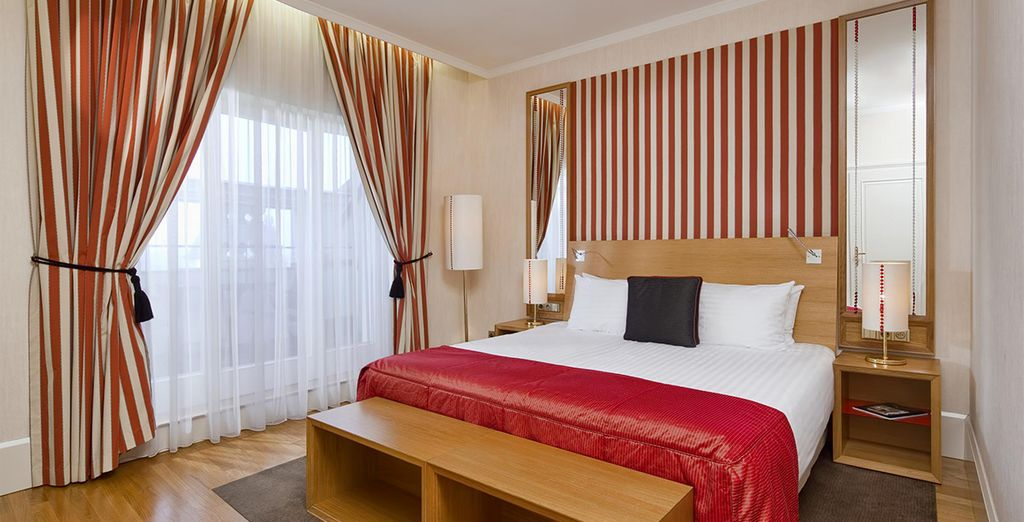 Our members will benefit from an upgrade to a Deluxe Room