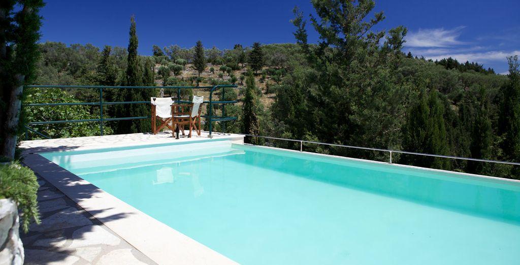 Take a dip in the pool - Loulouthia Villas  Paxos