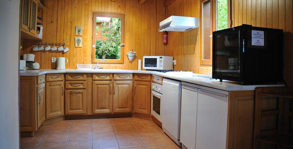 Take advantage of your own kitchen (Perigord Lodge)