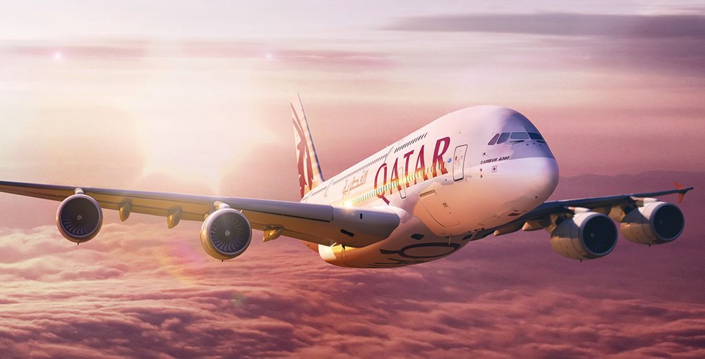 You will be entered into our prize draw with Qatar Airways to win £1,000 spending money!