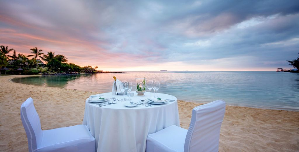 Treat someone special to a romantic dinner on the beach