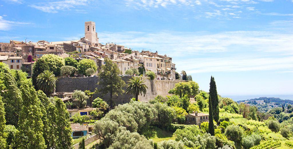 Explore the charming medieval town of St. Paul de Vence...