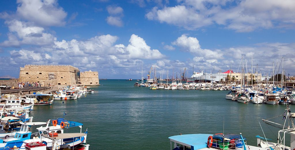 Visit the picturesque harbour and hop on a boat and explore the beautiful Greek islands