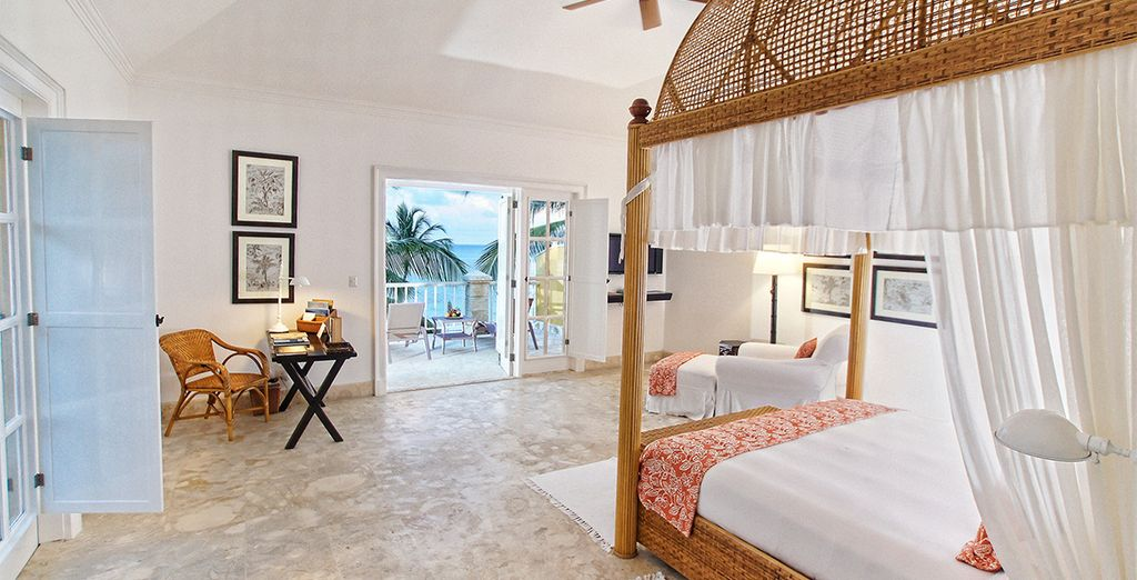 Where you spacious Junior Suite enjoys beautiful  ocean views