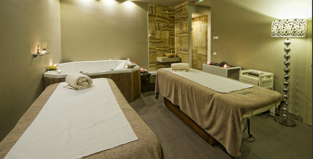 Return to the hotel's tranquil spa...