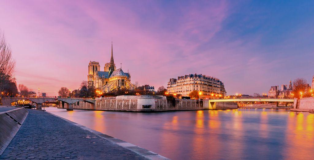 Enjoy a romantic stroll down the River Seine