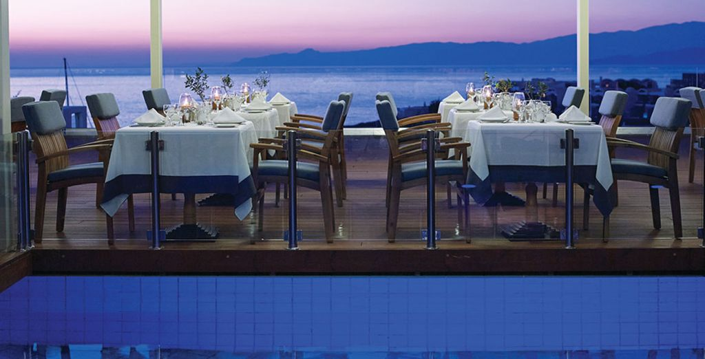 Enjoy superb sights as you dine in style