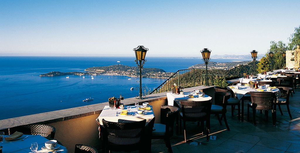 Enjoy a complimentary welcome drink and admire the views