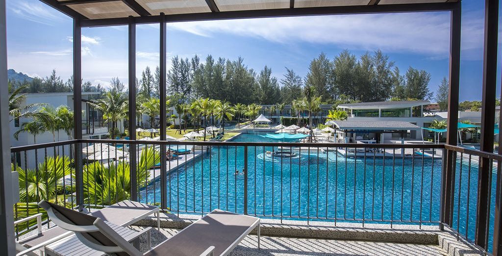 Where you will be overlooking the pool with direct access