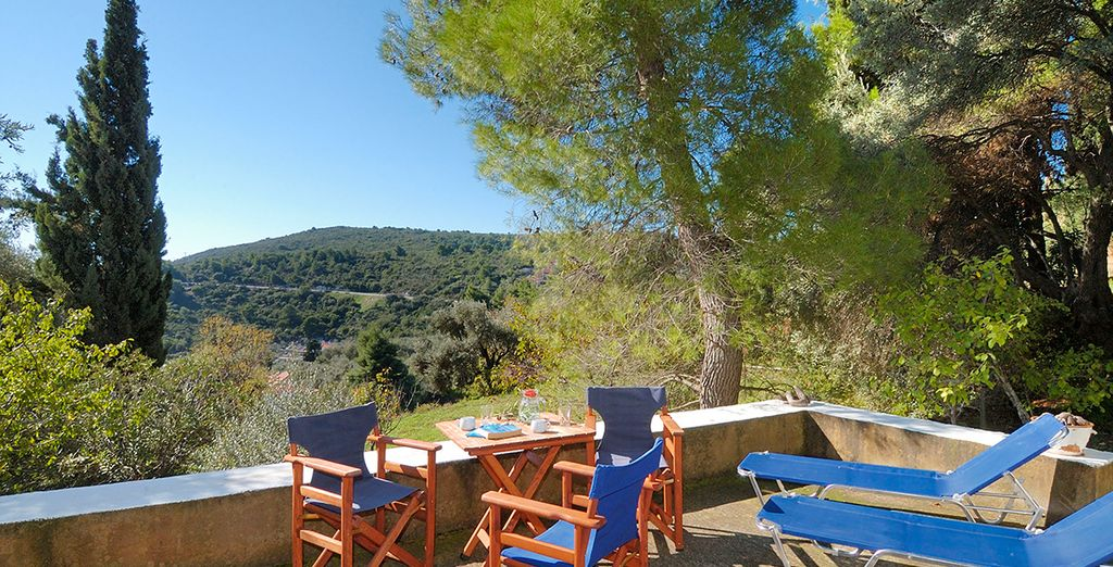 Soak up the sun on the outdoor terraces and take in the peaceful views