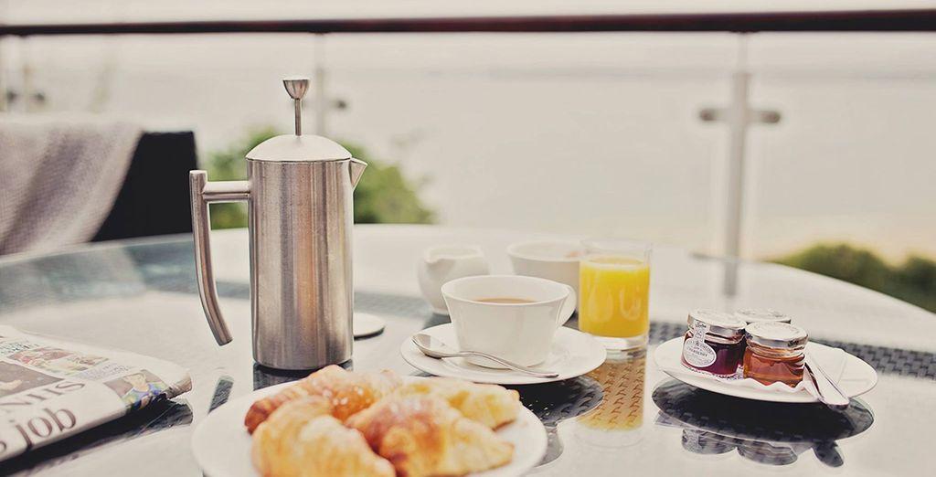 Enjoy breakfast each morning